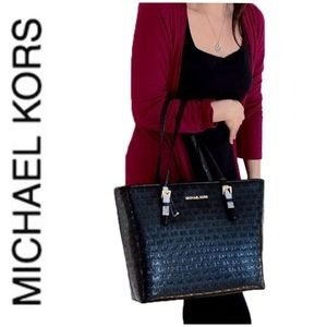 NWT authentic MK monogram carry all tote black